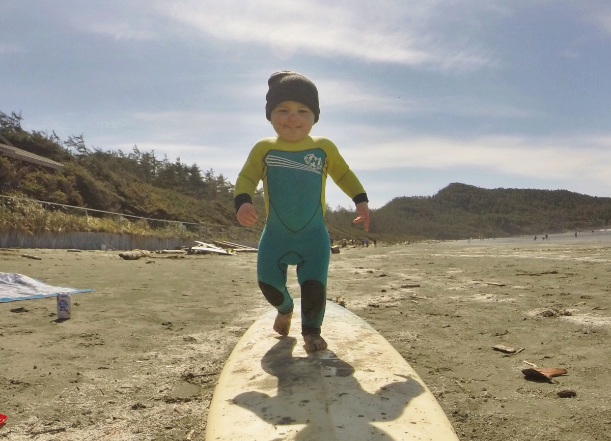 Visiting Tofino with a toddler