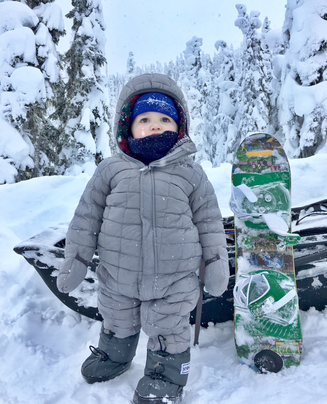 LIttle snowboarder